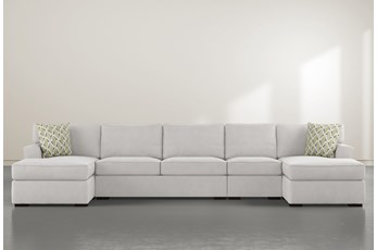 "Aspen Sterling Foam 4 Piece 156"" Sectional With Double Chaise"