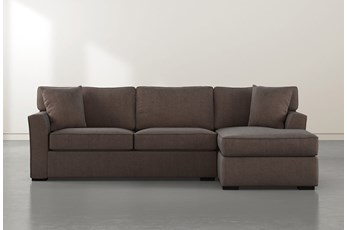 Aspen Down Brown 2 Piece Sectional With Right Facing Chaise