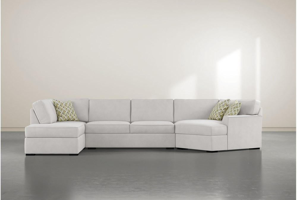"Aspen Down 3 Piece 163"" Sectional With Left Arm Facing Armless Chaise"