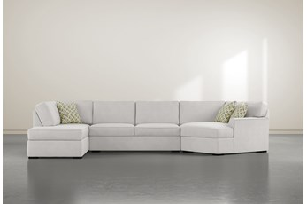 Aspen Down 3 Piece Sectional With Left Arm Facing Armless Chaise