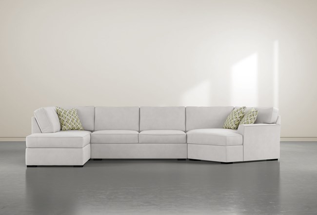 "Aspen Down 3 Piece 163"" Sectional With Left Arm Facing Armless Chaise - 360"