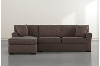 Aspen Down Brown 2 Piece Sectional With Left Facing Chaise