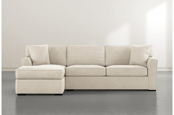 Aspen Down Beige 2 Piece Sectional With Left Facing Chaise