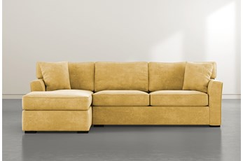 Aspen Down Yellow 2 Piece Sectional With Left Facing Chaise