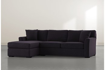 Aspen Down Black 2 Piece Sectional With Left Facing Chaise