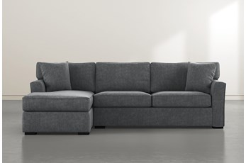 Aspen Down Dark Grey 2 Piece Sectional With Left Facing Chaise
