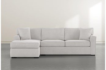 Aspen Down Light Grey 2 Piece Sectional With Left Facing Chaise