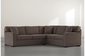 Aspen Down Brown 2 Piece Sectional With Left Arm Facing Condo Sofa