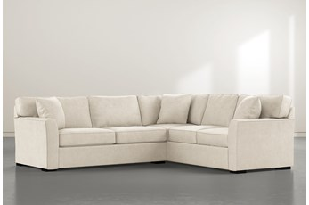 Aspen Down Beige 2 Piece Sectional With Left Arm Facing Condo Sofa