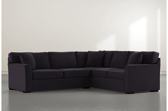 Aspen Down Black 2 Piece Sectional With Left Arm Facing Condo Sofa