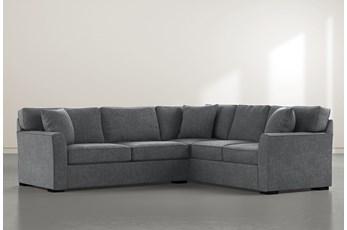 Aspen Down Dark Grey 2 Piece Sectional With Left Arm Facing Condo Sofa