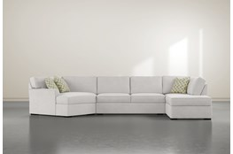 Aspen Down 3 Piece Sectional With Right Arm Facing Armless Chaise