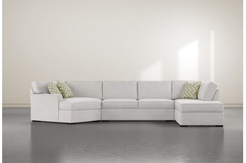 """Aspen Down 3 Piece 163"""" Sectional With Right Arm Facing Armless Chaise"""