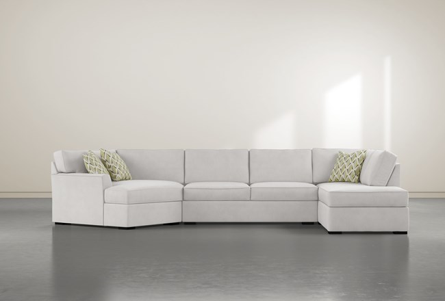 """Aspen Down 3 Piece 163"""" Sectional With Right Arm Facing Armless Chaise - 360"""