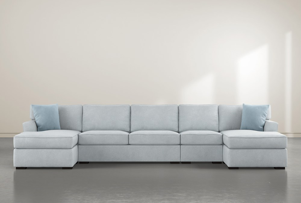 Aspen Tranquil Foam 4 Piece Sectional With Double Chaise
