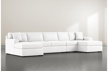 "Cypress II Foam 4 Piece 160"" Sectional With Double Chaise"