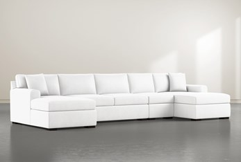 """Cypress II Foam 4 Piece 160"""" Sectional With Double Chaise"""