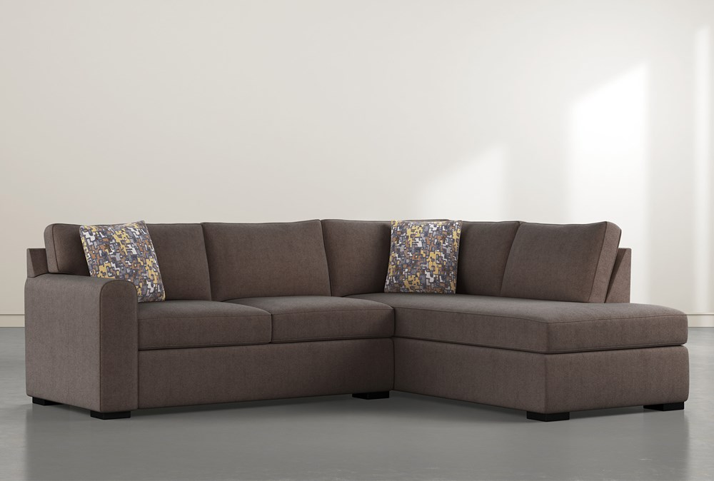 """Cypress II Down 2 Piece 106"""" Sectional With Right Facing Chaise"""