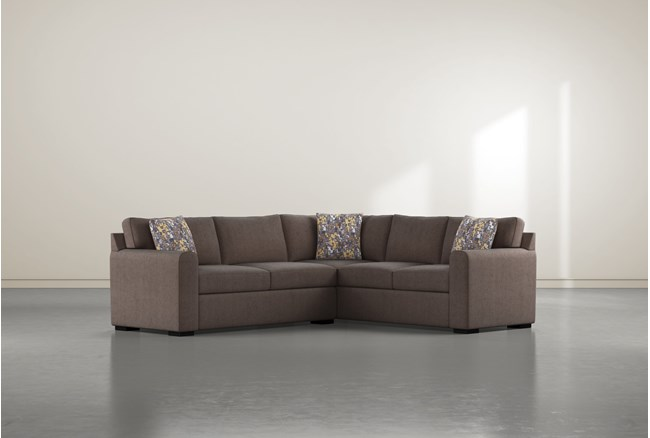 """Cypress II Down 2 Piece 92"""" Sectional With Left Arm Facing Condo Sofa - 360"""