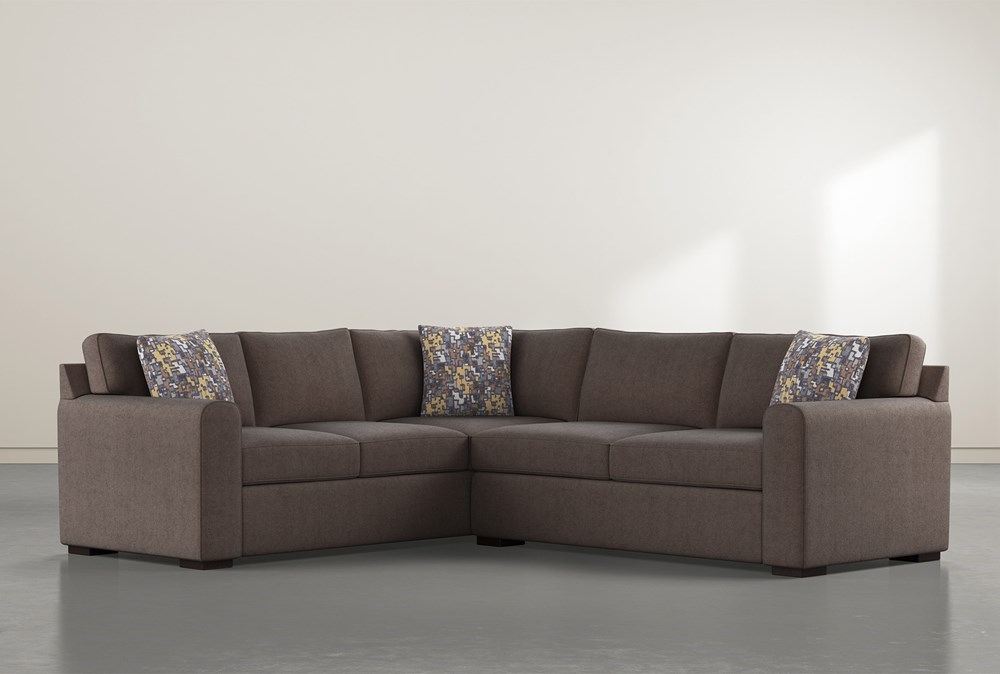 """Cypress II Down 2 Piece 92"""" Sectional With Right Arm Facing Condo Sofa"""