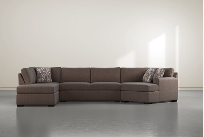 """Cypress II Down 3 Piece 163"""" Sectional With Left Arm Facing Armless Chaise - 360"""