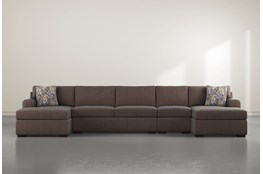 "Cypress II Down 4 Piece 160"" Sectional With Double Chaise"