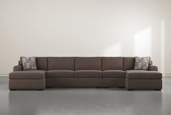 """Cypress II Down 4 Piece 160"""" Sectional With Double Chaise"""