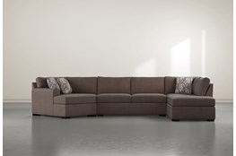 "Cypress II Down 3 Piece 163"" Sectional With Right Arm Facing Armless Chaise"