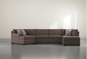 """Cypress II Down 3 Piece 163"""" Sectional With Right Arm Facing Armless Chaise"""