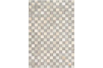 60X90 Rug-Hand Crafted Hide And Viscose Grey