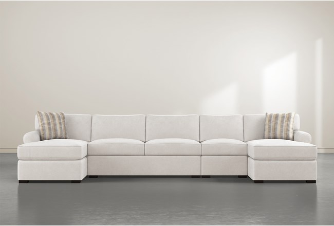 """Elm II Foam 4 Piece 160"""" Sectional With Double Chaise - 360"""