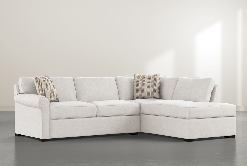 """Elm II Down 2 Piece 108"""" Sectional With Right Facing Chaise"""