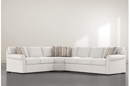 Elm II Down 3 Piece Sectional With Left Arm Facing Armless Chaise