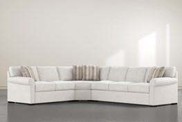"""Elm II Down 3 Piece 163"""" Sectional With Left Arm Facing Armless Chaise"""