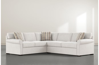 """Elm II Down 2 Piece 94"""" Sectional With Right Arm Facing Condo Sofa"""