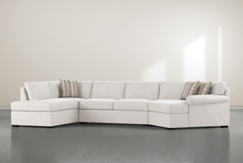 """Elm II Down 3 Piece 163"""" Sectional With Right Arm Facing Armless Chaise"""