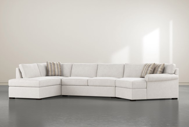 """Elm II Down 3 Piece 163"""" Sectional With Right Arm Facing Armless Chaise - 360"""