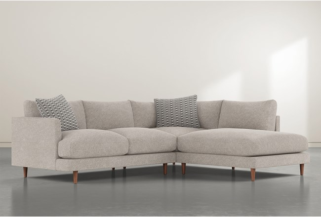 """Adeline II 2 Piece 109"""" Sectional With Right Facing Chaise - 360"""