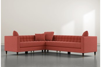 "Tate III 92"" Red 3 Piece Sectional With Right Arm Facing Sofa"