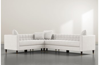 Tate III Light Grey 3 Piece Sectional With Right Arm Facing Sofa