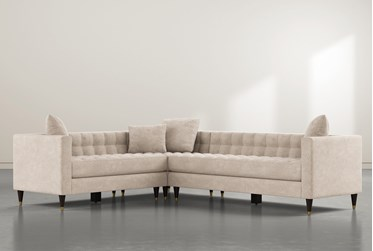 """Tate III 92"""" Beige 3 Piece Sectional With Right Arm Facing Sofa"""