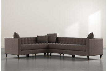 Tate III Brown 3 Piece Sectional With Right Arm Facing Sofa