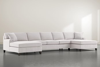 """Donaver II 3 Piece 169"""" Sectional With Double Chaise"""