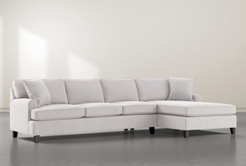 """Donaver II 2 Piece 131"""" Sectional With Right Arm Facing Chaise"""