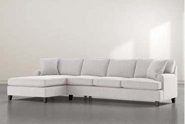 """Donaver II 2 Piece 131"""" Sectional With Left Arm Facing Chaise"""