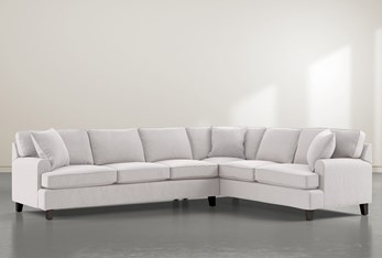 """Donaver II 2 Piece 125"""" Sectional With Left Arm Facing Sofa"""