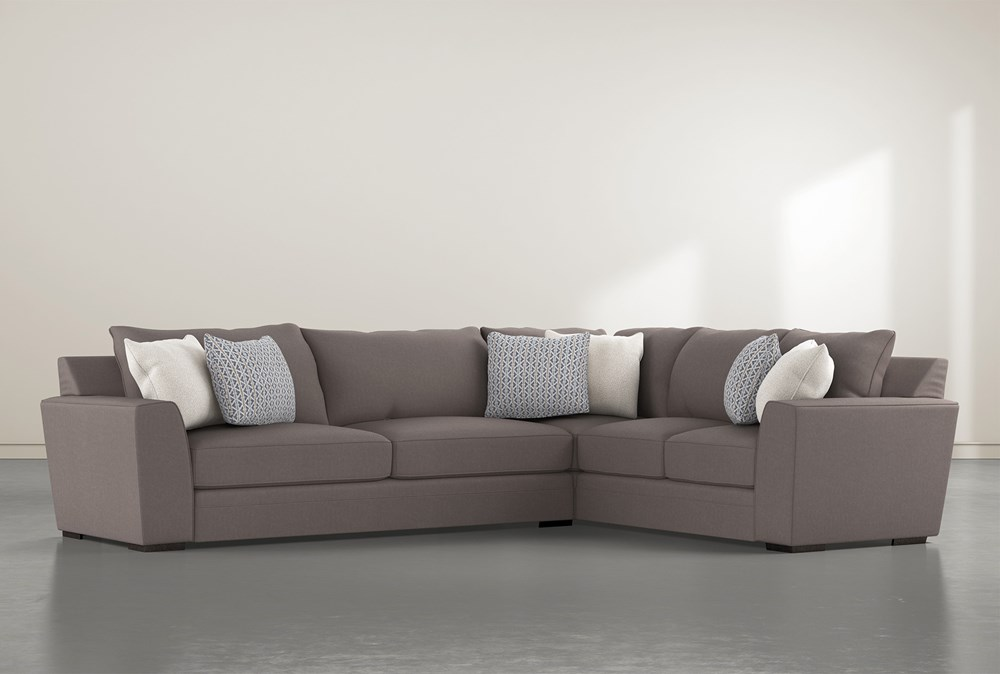 Delano Charcoal 2 Piece Sectional With Left Arm Facing Sofa