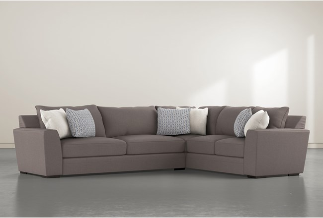 Delano Charcoal 2 Piece Sectional With Left Arm Facing Sofa - 360