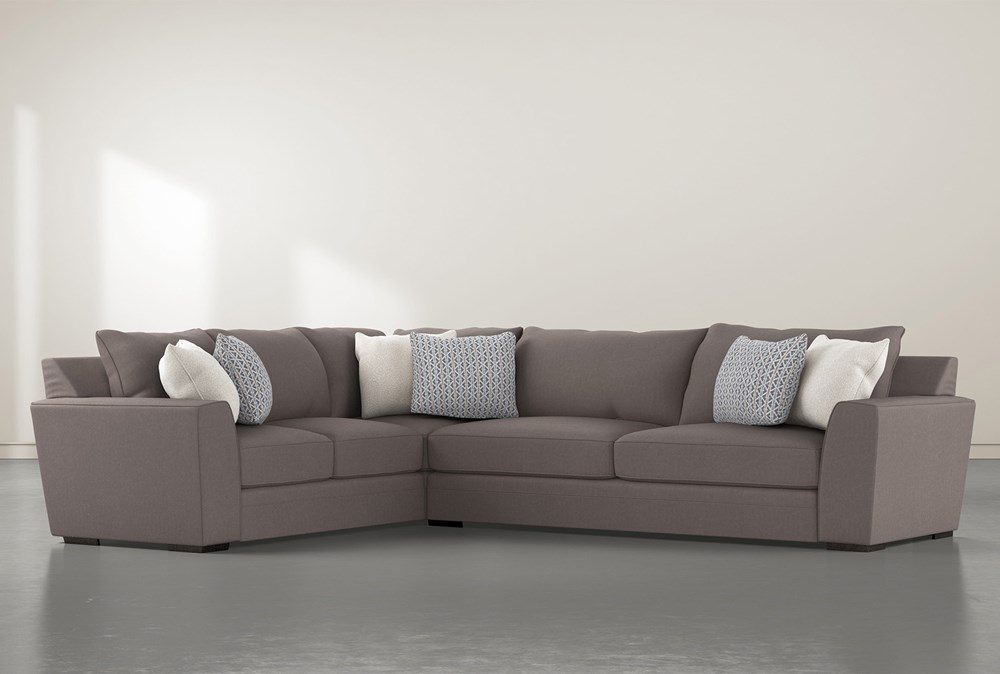 Delano Charcoal 2 Piece Sectional With Right Arm Facing Sofa