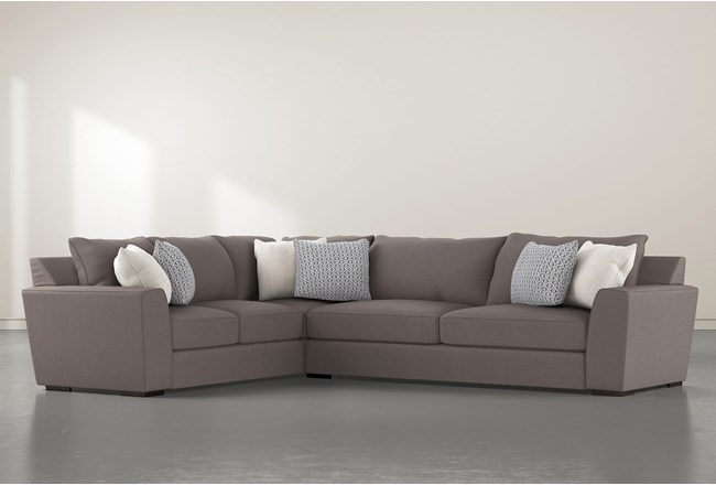 Delano Charcoal 2 Piece Sectional With Right Arm Facing Sofa - 360